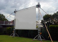 Outdoor Projector Screen Hire